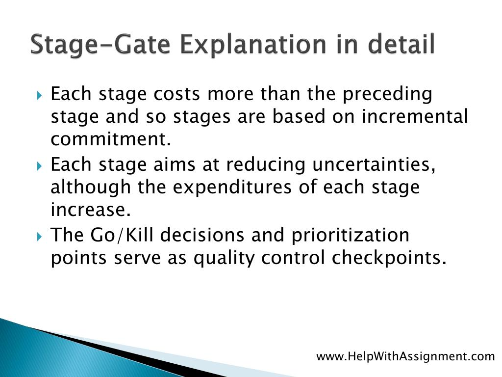 Stage-Gate Explanation in detail