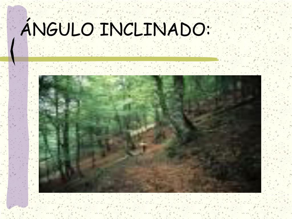 ÁNGULO INCLINADO: