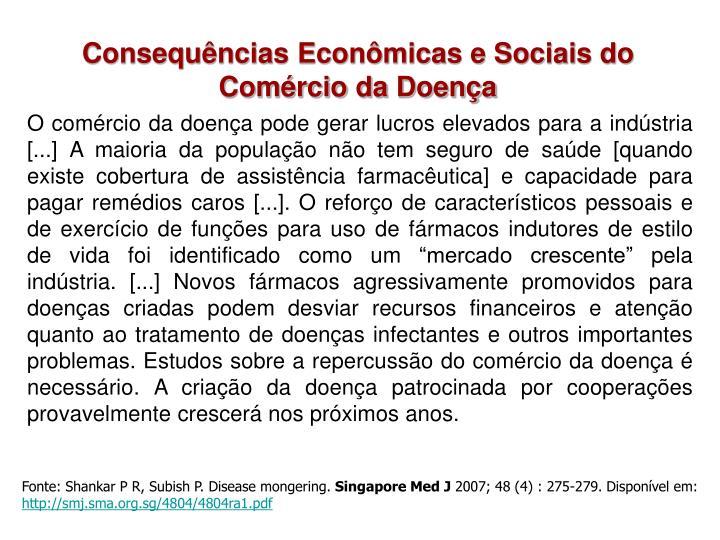 Consequências Econômicas e Sociais do Comércio da Doença