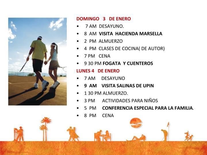 DOMINGO   3   DE ENERO