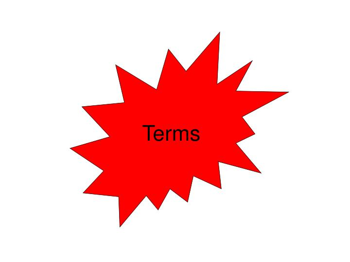 Terms