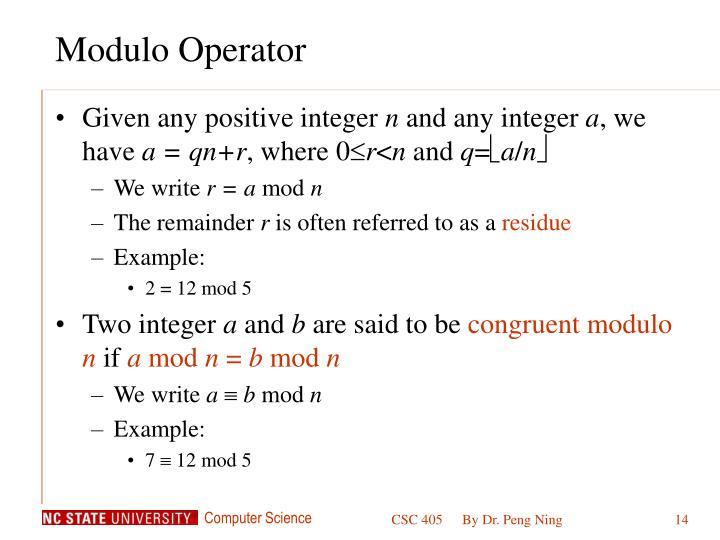 Modulo Operator