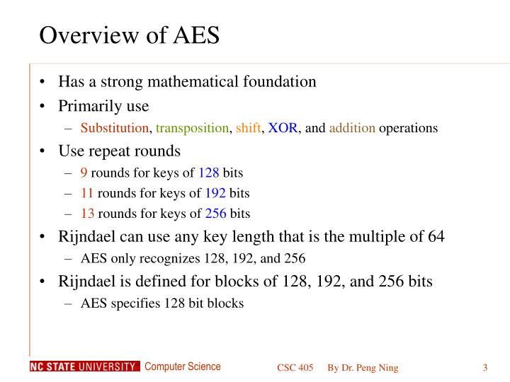 Overview of aes