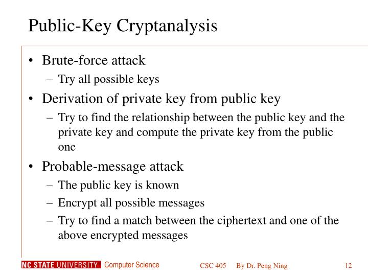 Public-Key Cryptanalysis