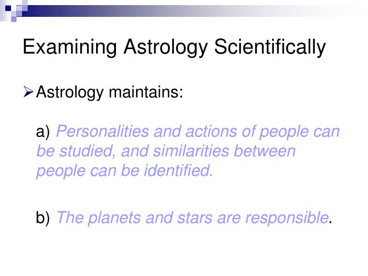 Examining Astrology Scientifically