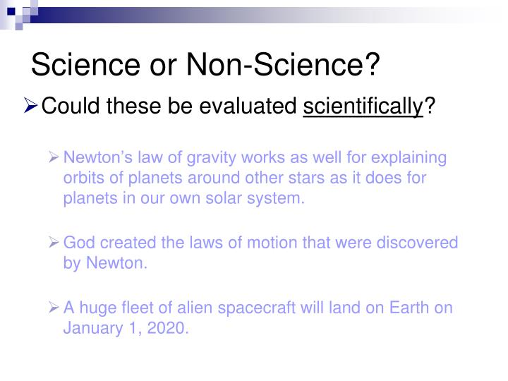 Science or Non-Science?