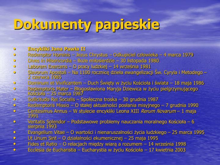 Dokumenty papieskie