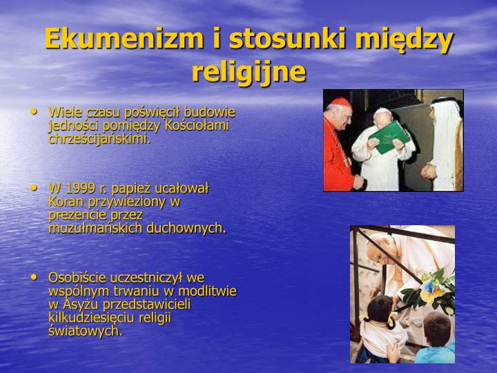 Ekumenizm i stosunki między religijne