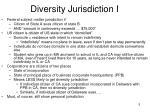 diversity jurisdiction i