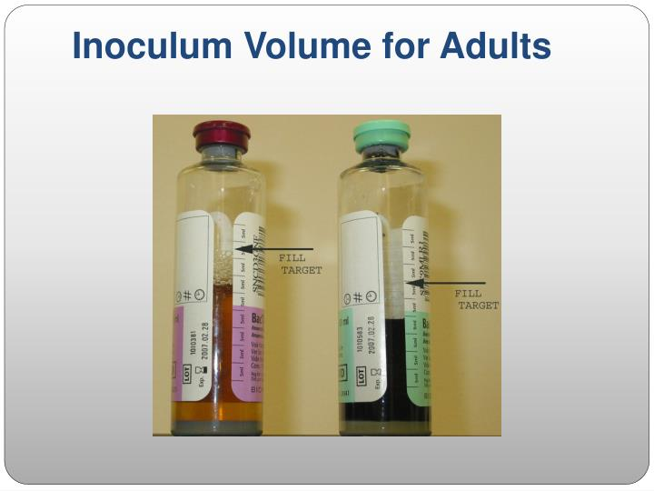 Inoculum Volume for Adults