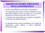 esempi di teorie implicite sulla matematica
