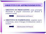 obiettivi di apprendimento1