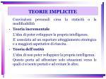 teorie implicite