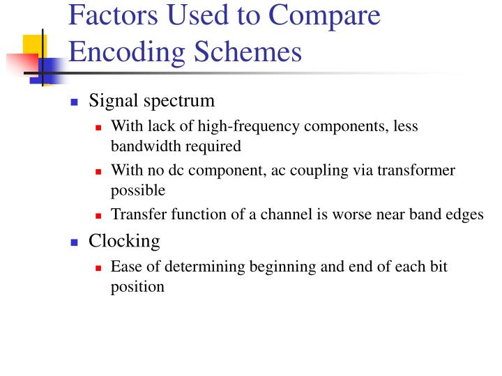 Factors Used to Compare
