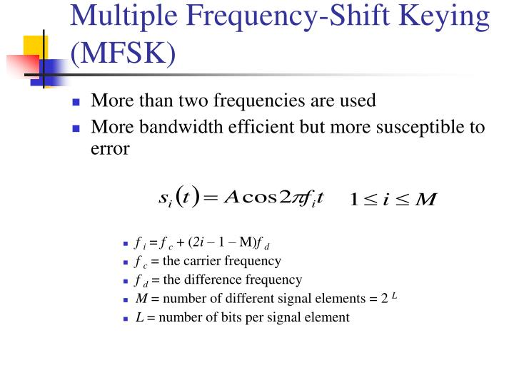 Multiple Frequency-Shift Keying (MFSK)