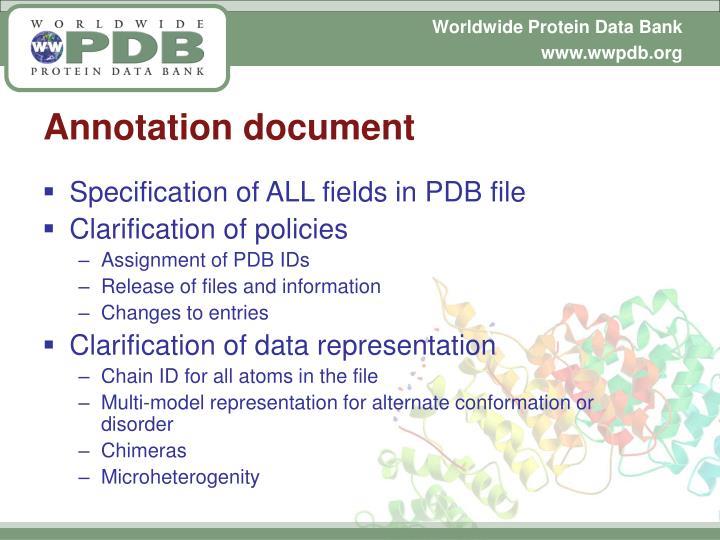 Annotation document