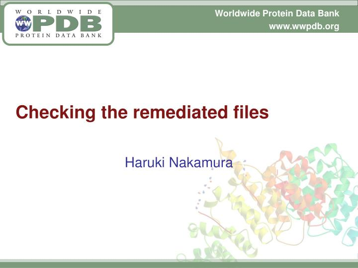 Checking the remediated files