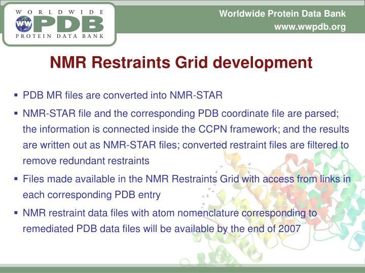 NMR Restraints Grid development