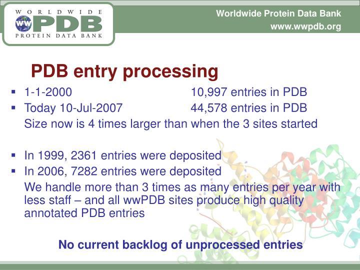 PDB entry processing