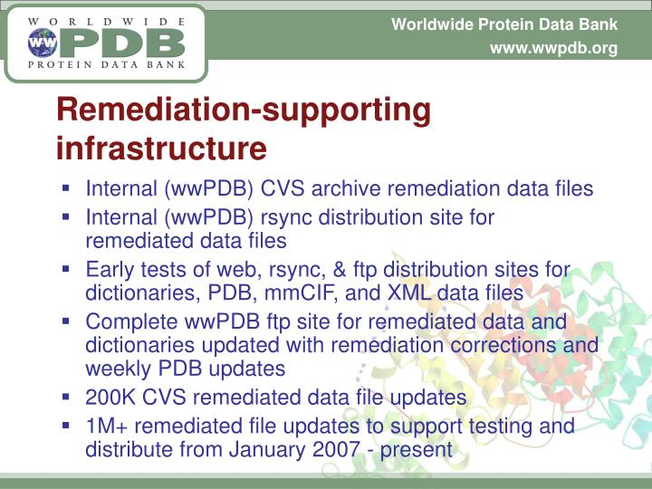 Remediation-supporting infrastructure