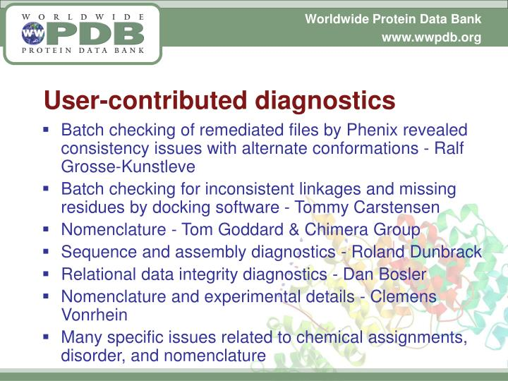 User-contributed diagnostics