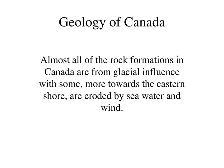 Geology of Canada