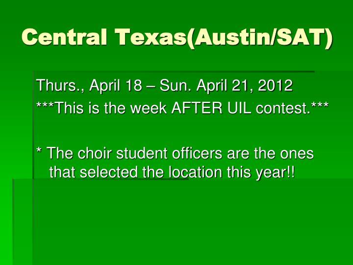 Central Texas(Austin/SAT)