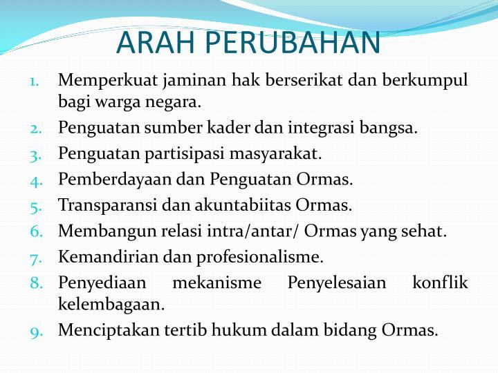 ARAH PERUBAHAN