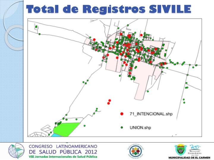 Total de Registros SIVILE