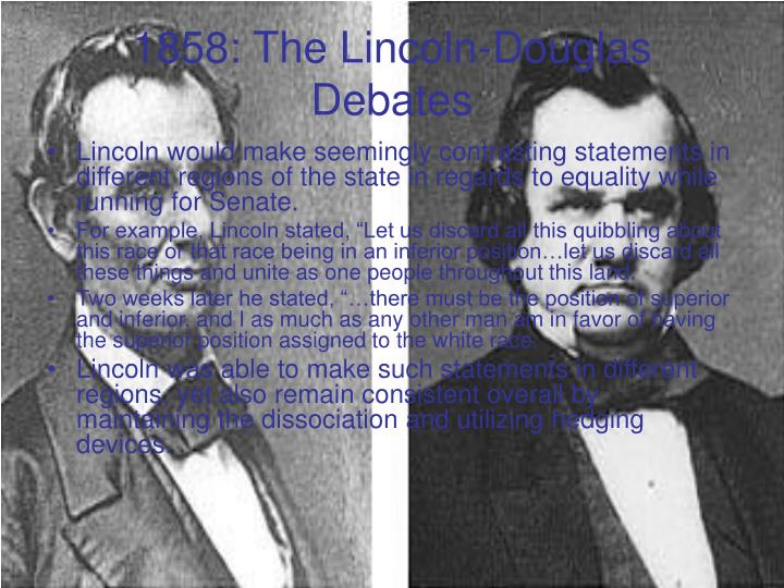1858: The Lincoln-Douglas