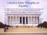 lincoln s early thoughts on equality1