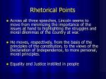 rhetorical points