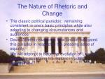 the nature of rhetoric and change