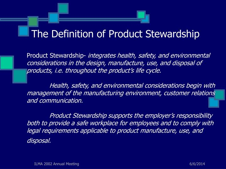 The Definition of Product Stewardship