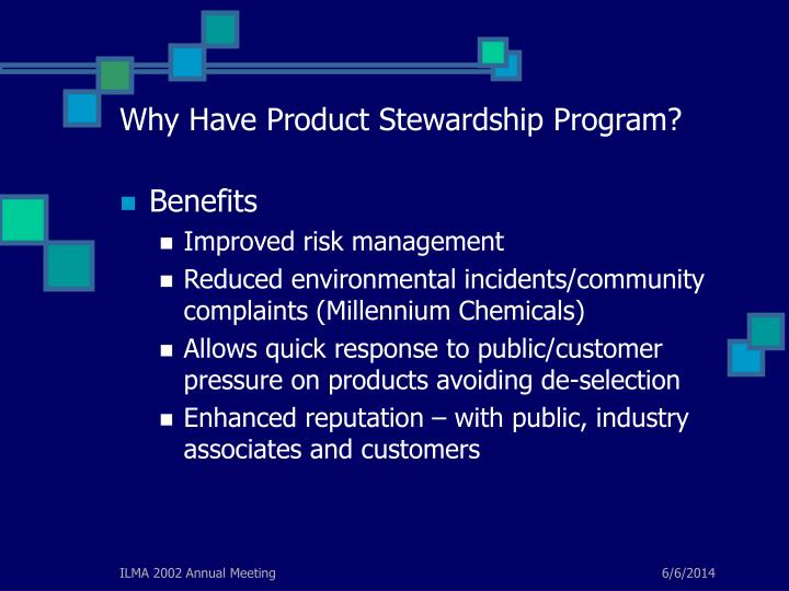 Why Have Product Stewardship Program?