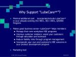 why support lubecare sm