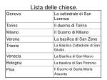lista delle chiese