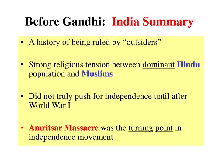 Before Gandhi:
