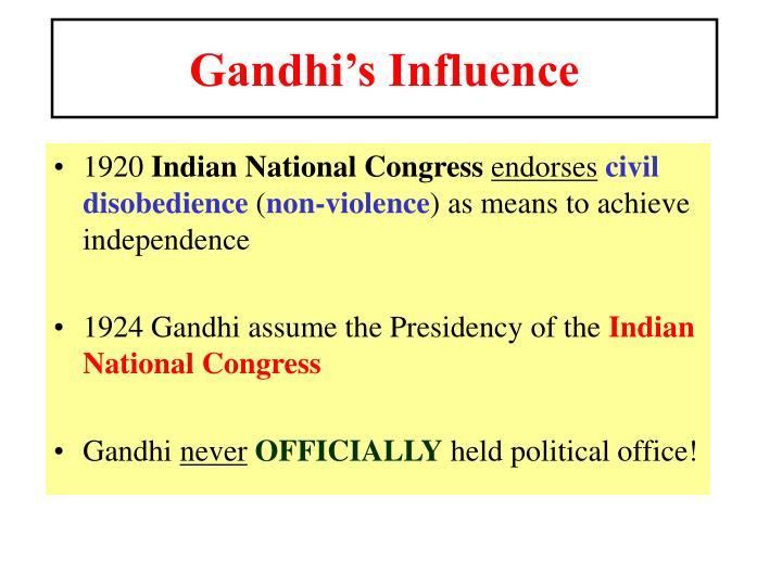 Gandhi's Influence