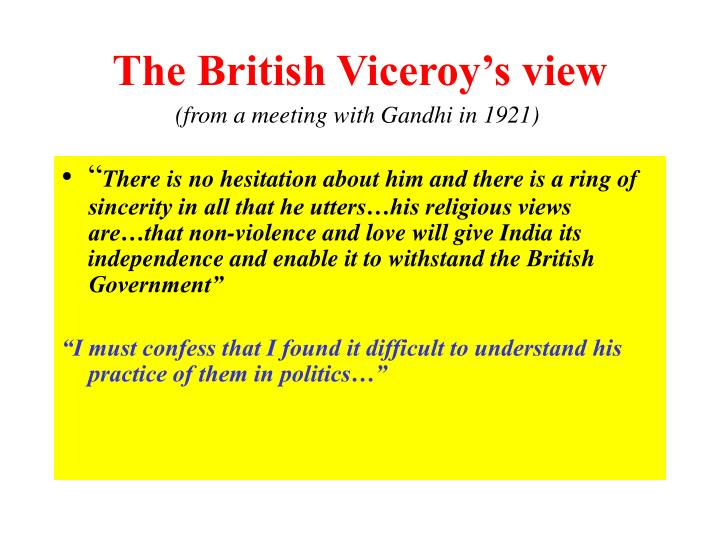 The British Viceroy's view
