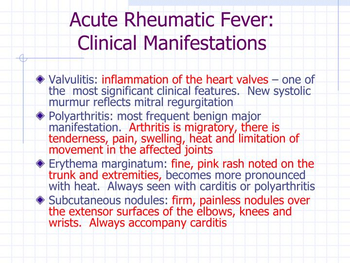 Acute Rheumatic Fever: