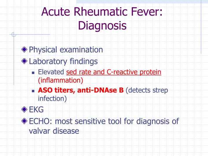 Acute Rheumatic Fever: Diagnosis