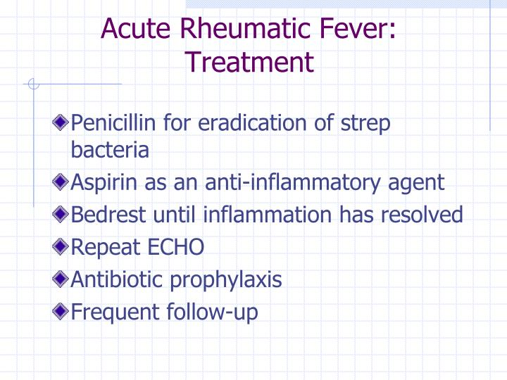 Acute Rheumatic Fever: Treatment