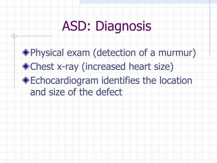 ASD: Diagnosis