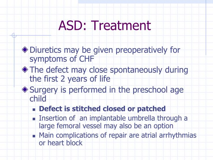 ASD: Treatment