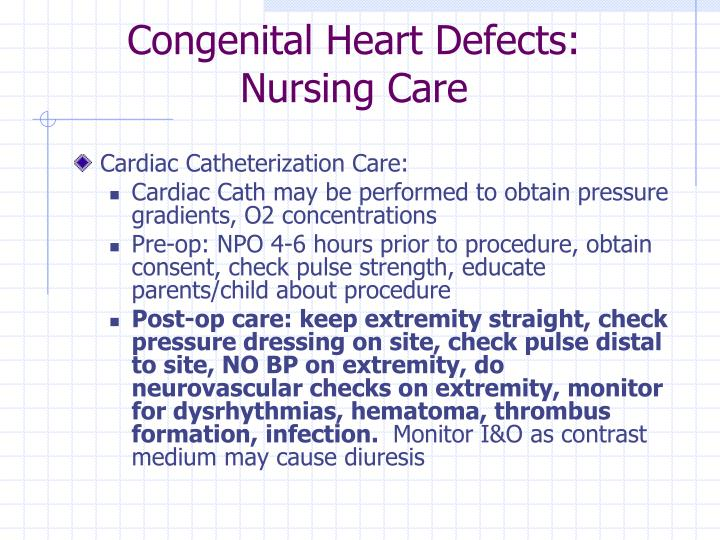 Congenital Heart Defects: