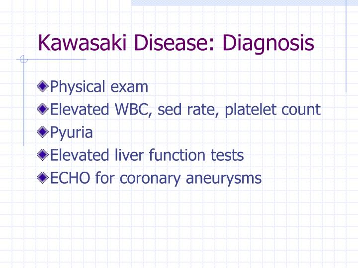 Kawasaki Disease: Diagnosis