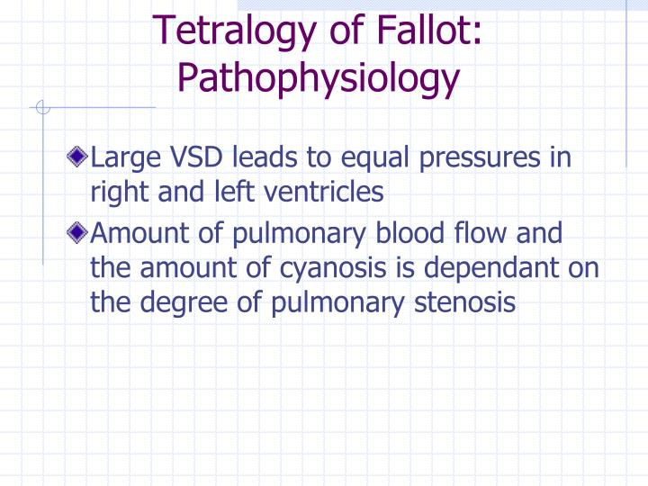Tetralogy of Fallot: Pathophysiology