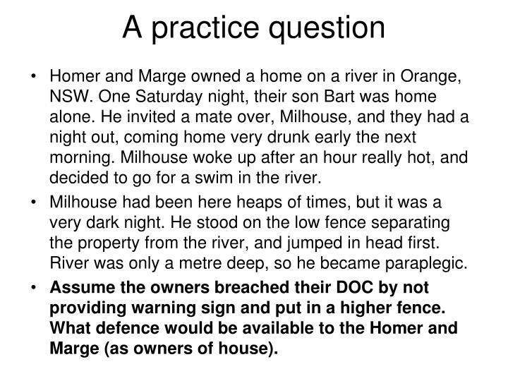 A practice question