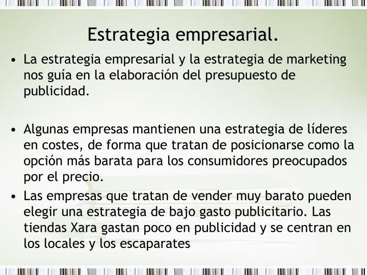 Estrategia empresarial.